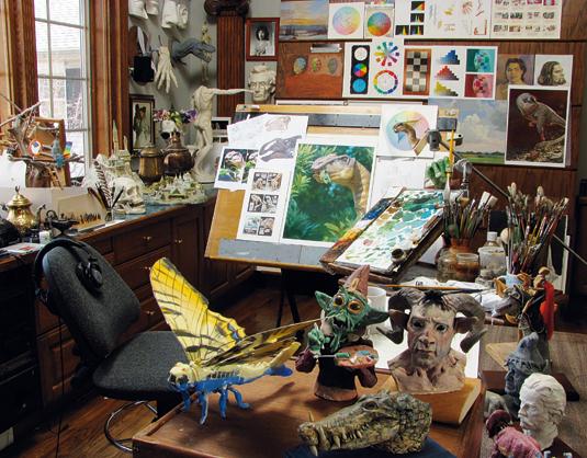 Get a tour of Dinotopia artist's studio