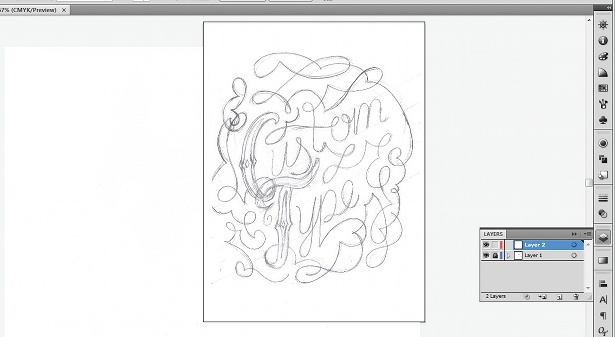 Use the Calligraphic Brush tool: step 1