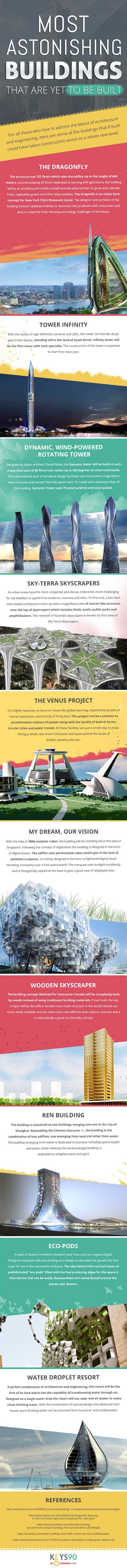 Astonishing buildings infographic