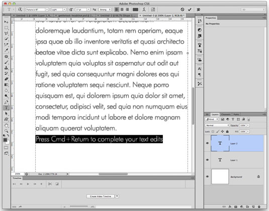 Photoshop secrets: Quickly finish editing text