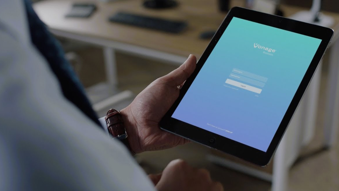App on a tablet