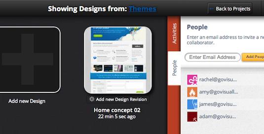Design tools: GoVisually 2