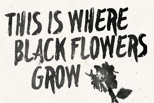 Free font: Blackflower