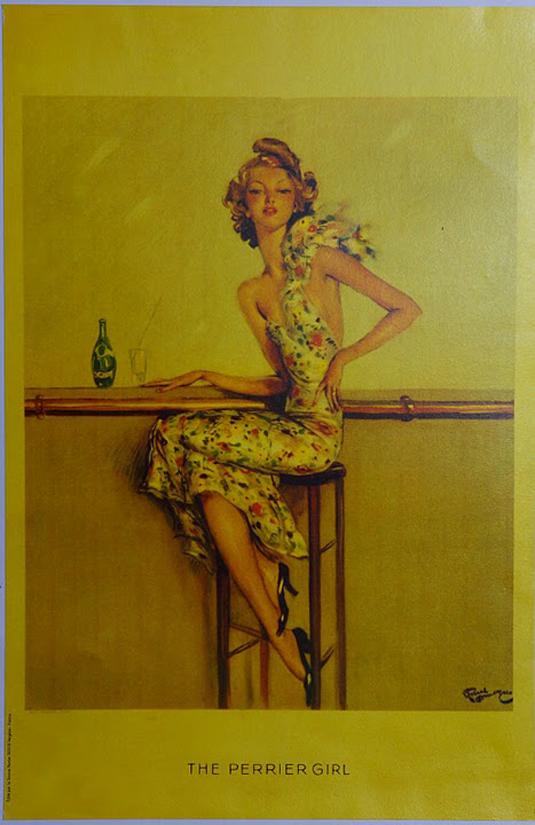 Vintage posters - Perrier Girl