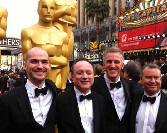 Gravity team at Oscars
