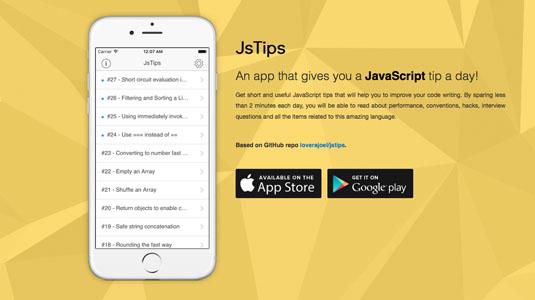 Web design tools: JsTips