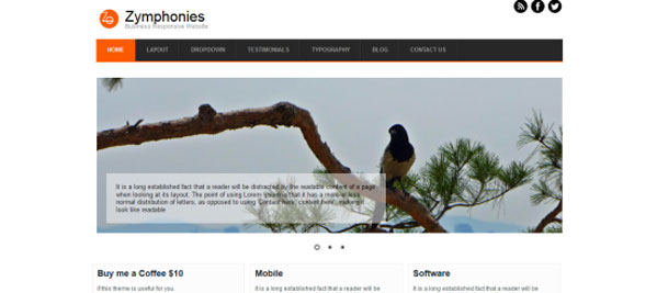 Drupal themes - Business Responsive Theme