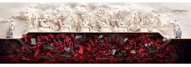 Heaven and Hell by JWT Shanghai for Samsonite