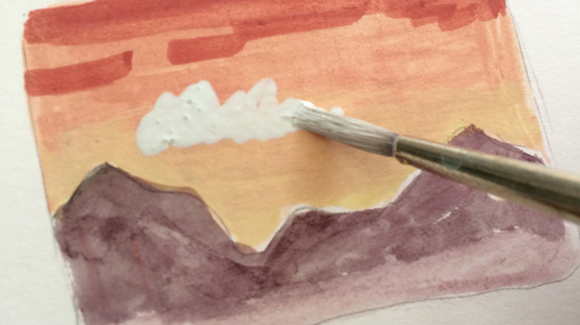How to paint with gouache: opaque layers
