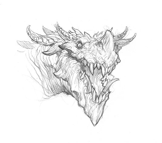 how to make a dragon drawing