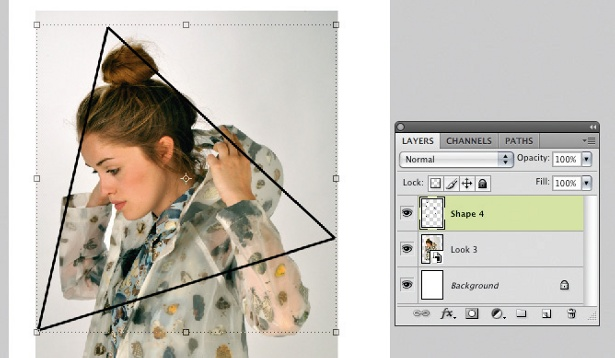 Kaleidoscope effect in Photoshop: step 4