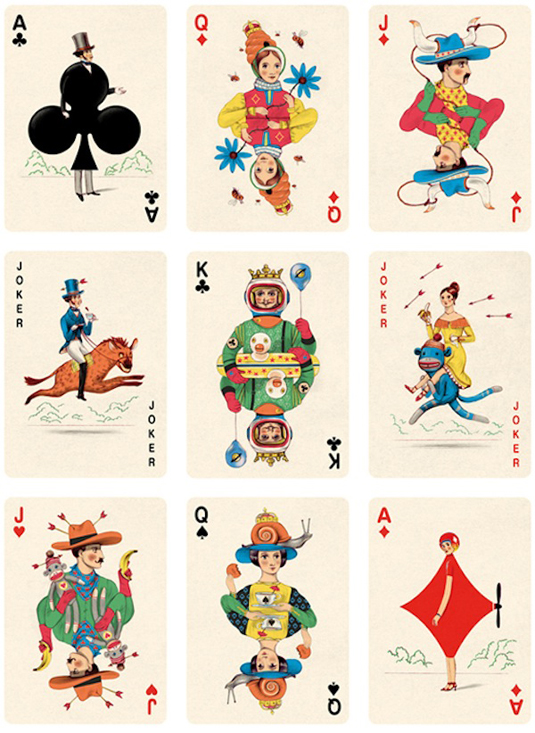 custom playing cards: The Folio Society