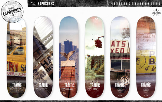 Skateboard designs: Exposure series