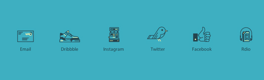 personalised social media icons