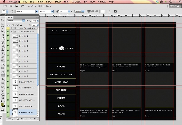 Design an iPad app UI in Photoshop: step 12