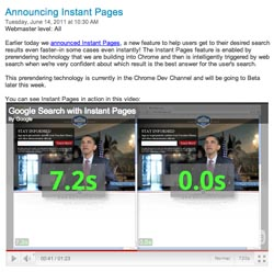 Google Instant Pages
