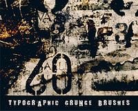 Jenn B's Typographic Grunge Brushes for Photoshop