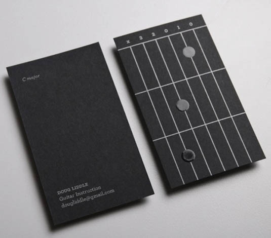 business cards with a fret design