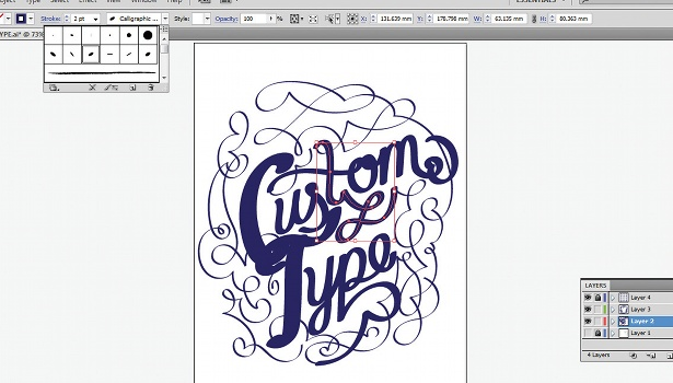 Use the Calligraphic Brush tool: step 7