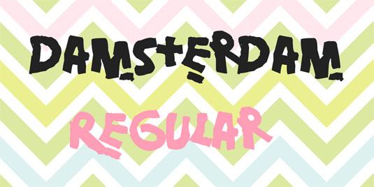 Free graffiti font: Damsterdam