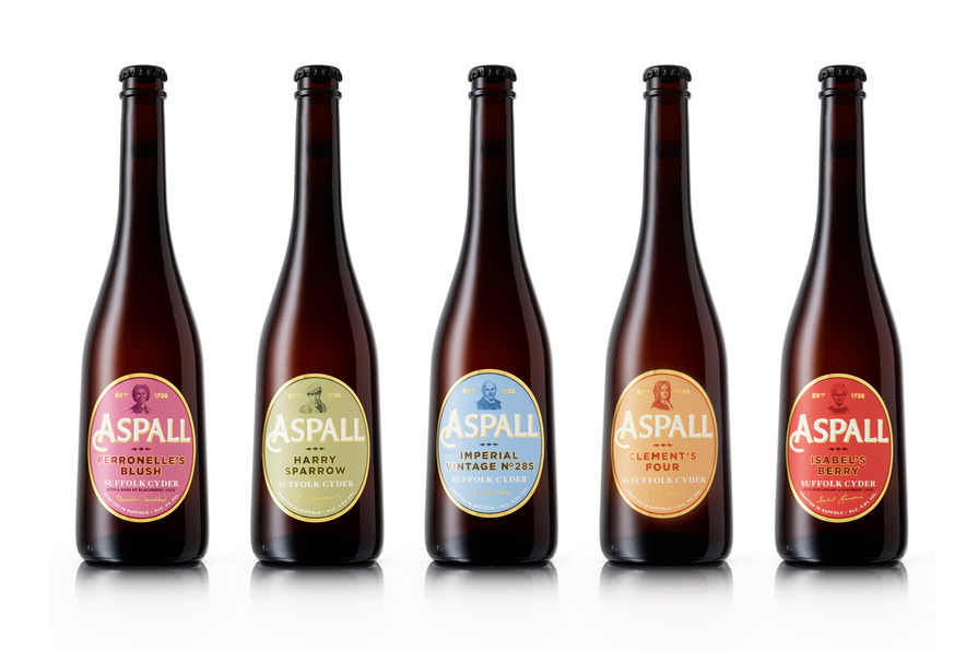 Aspall logo and flat design
