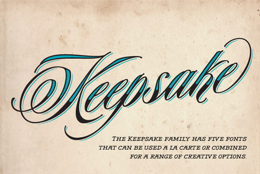 Keepsake tattoo font