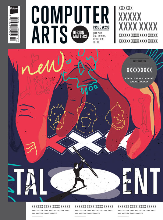 Cover design for CA's New Talent issue by Nick Booton