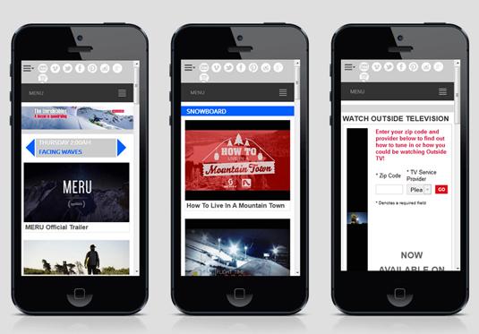 Drupal website on multiple smartphones