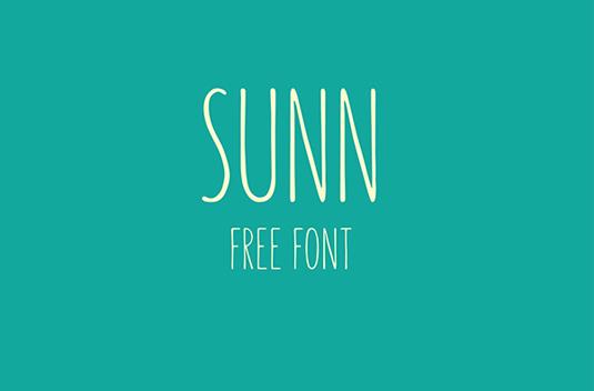 Free font: Sunn