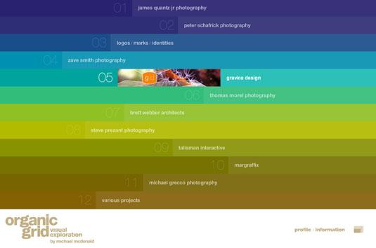 Website navigation: Organic Grid homepage