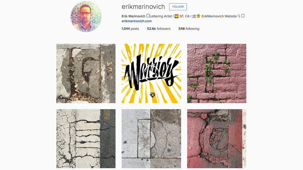 Graphic designers to follow on Instagram: Erik Marinovich