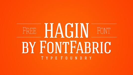 Free font: Hagin