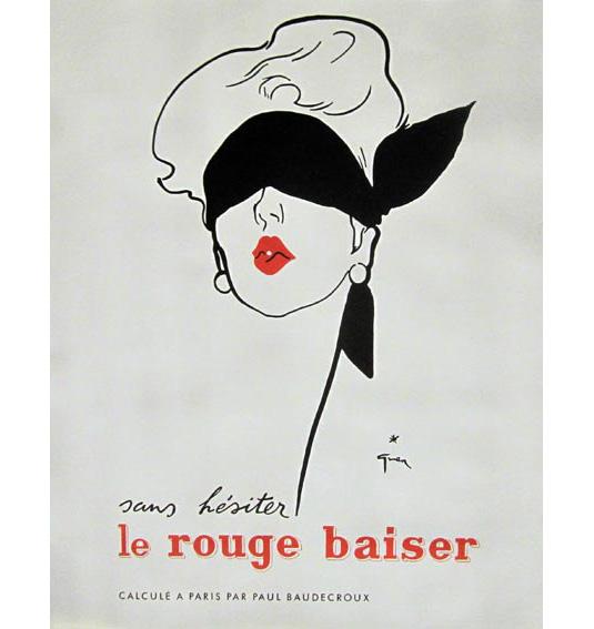 Vintage posters - Rouge Baiser