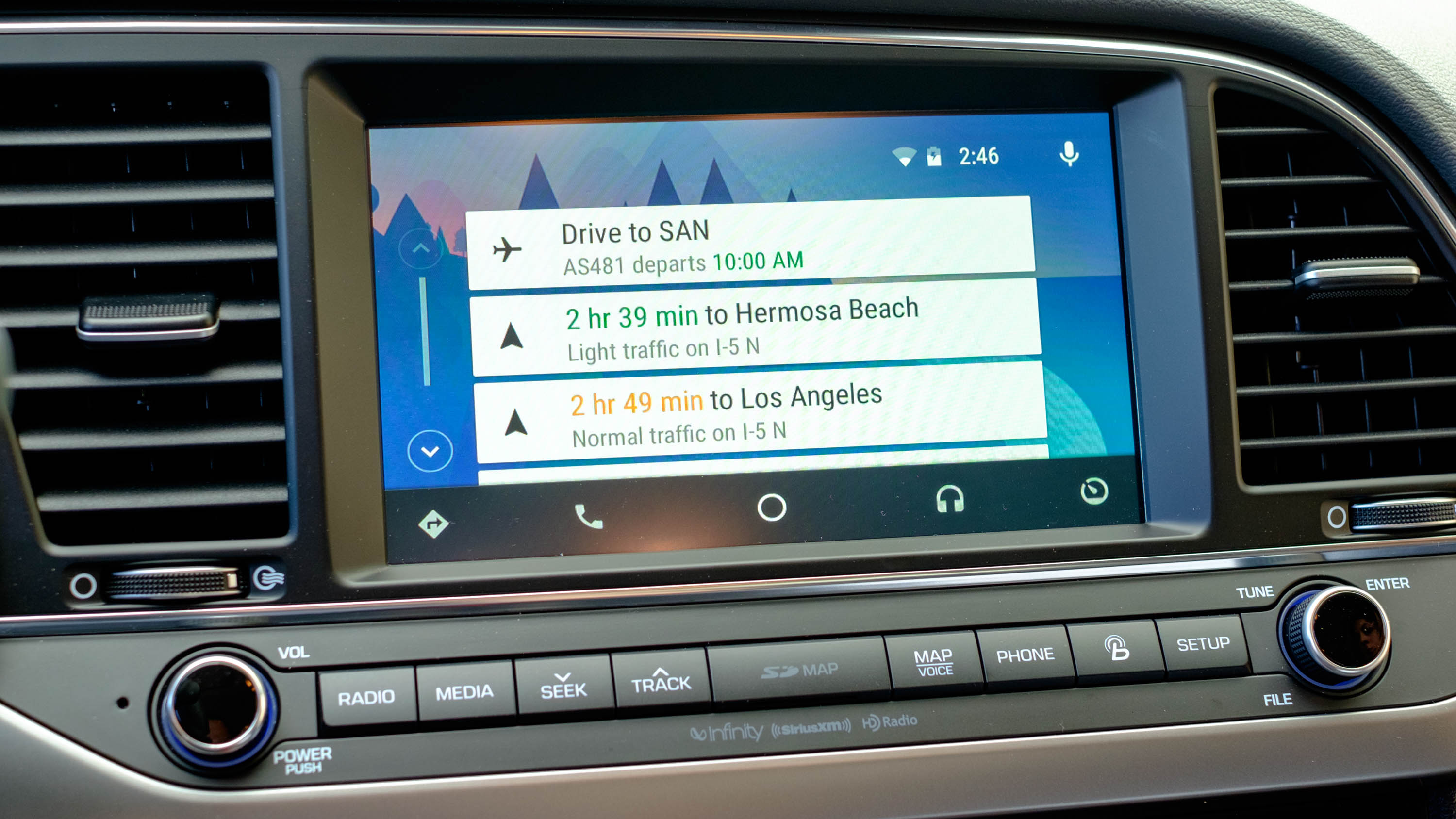 Android Auto Googles Head Unit For Cars Explained TechRadar - Los angeles navigation map