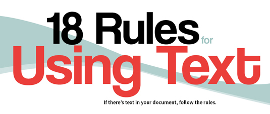 The best infographics - rules for text