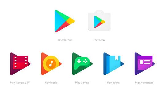 Google Play logos