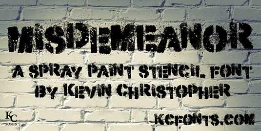 Graffiti font Misdemeanour