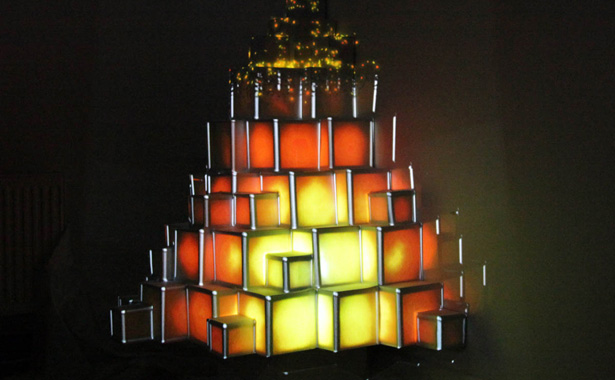 Cubic tree lights up The Neighbourhood