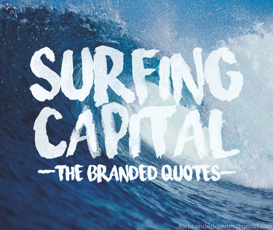 Free brush font: Surfing Capital