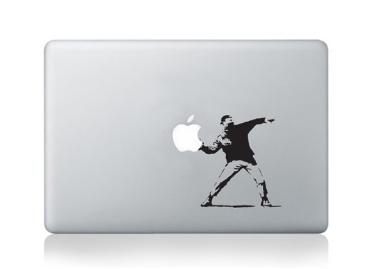 Mac decals - Banksy