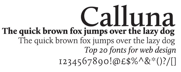 Web fonts: Calluna