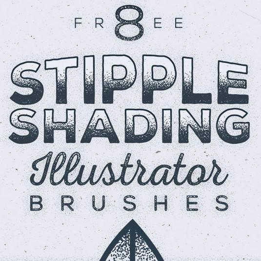 Best free Illustrator brushes - stipple shading