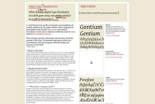 Download fonts: Free Font Manifesto