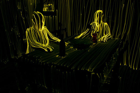 Light painting: Parviainen