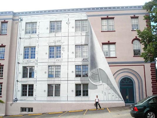 Trompe l'oeil - Portland's peeling blueprint