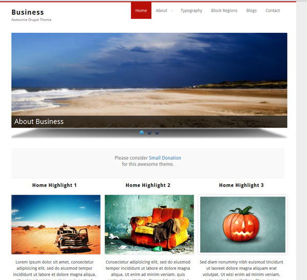 Drupal themes - Business