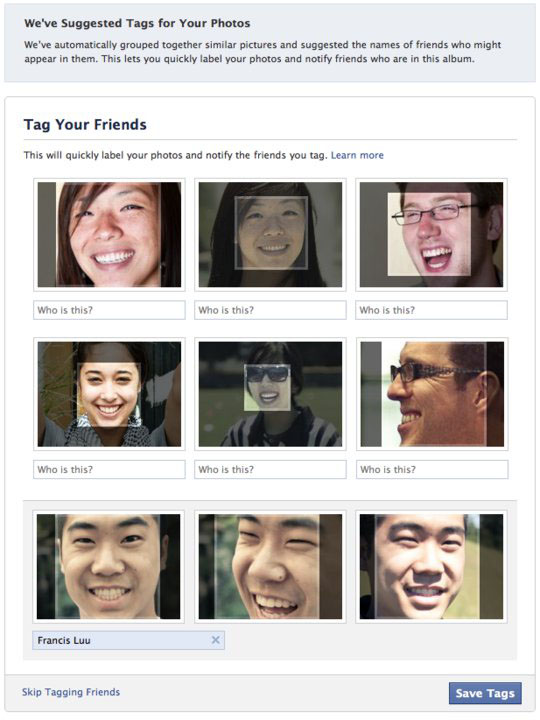 Facebook's use of facial recognition proved controversial - but the technology has undoubted potential for social apps