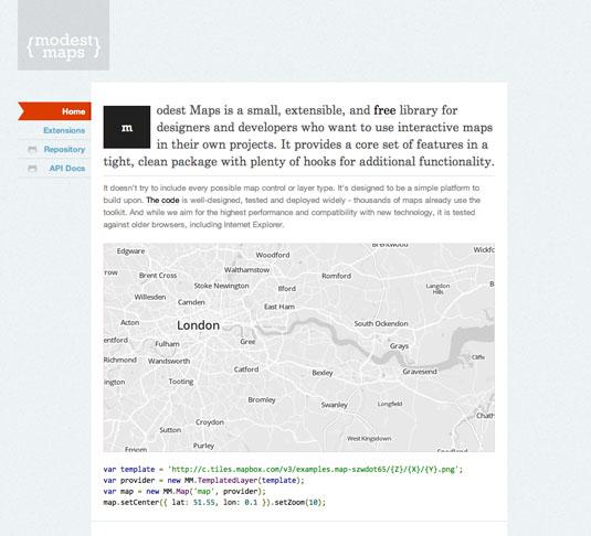 Data visualization: Modest Maps
