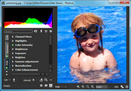 Free photo editing tools: Photivo