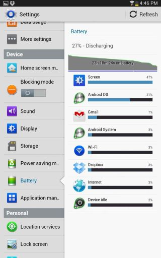 Samsung Galaxy Note 8.0 review: Battery life